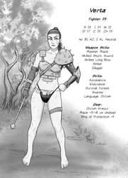 Verta: Human Fighter who has joined an Orc Tribe