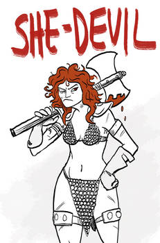 Corona Sketch: Red Sonja
