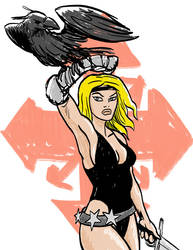 Corona Sketch: Raven SwordMistress of Chaos
