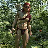 A hunting elf by sagitarian71