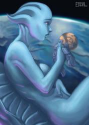 Asari Mass Effect by Eriyal