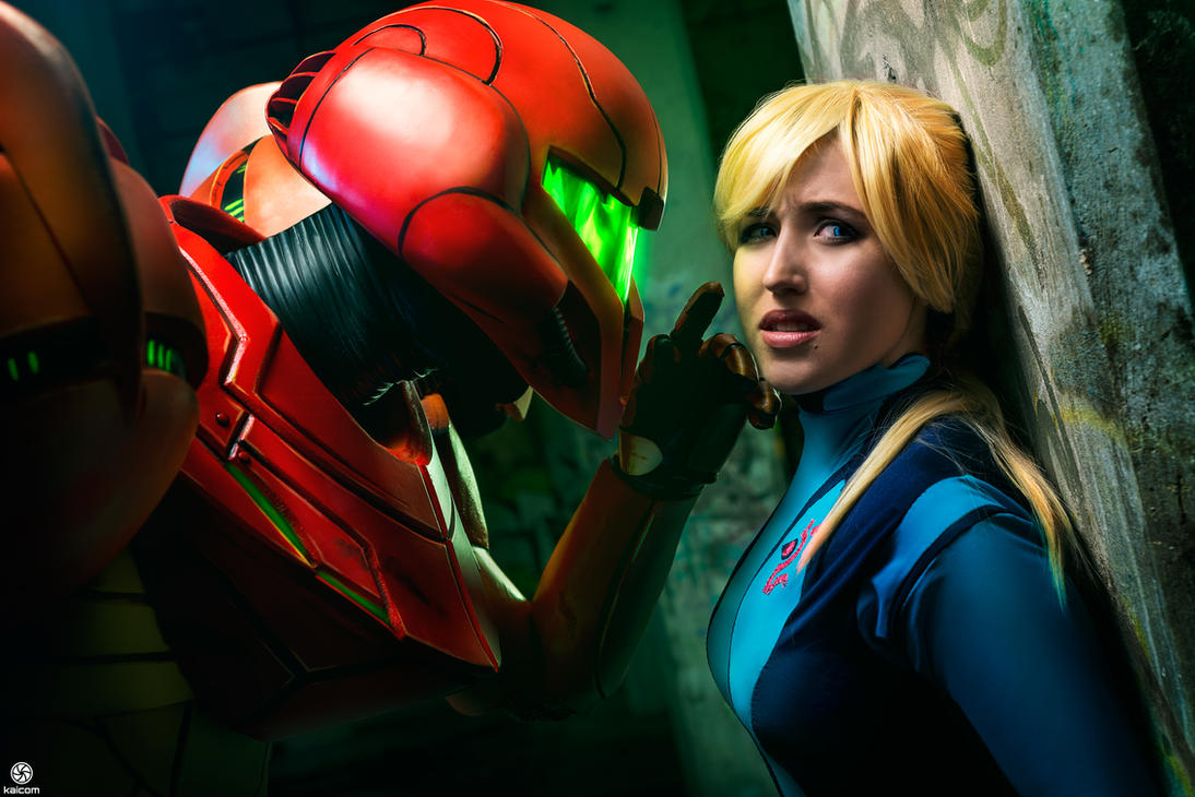 Metroid - SA-X and Samus by tarrer