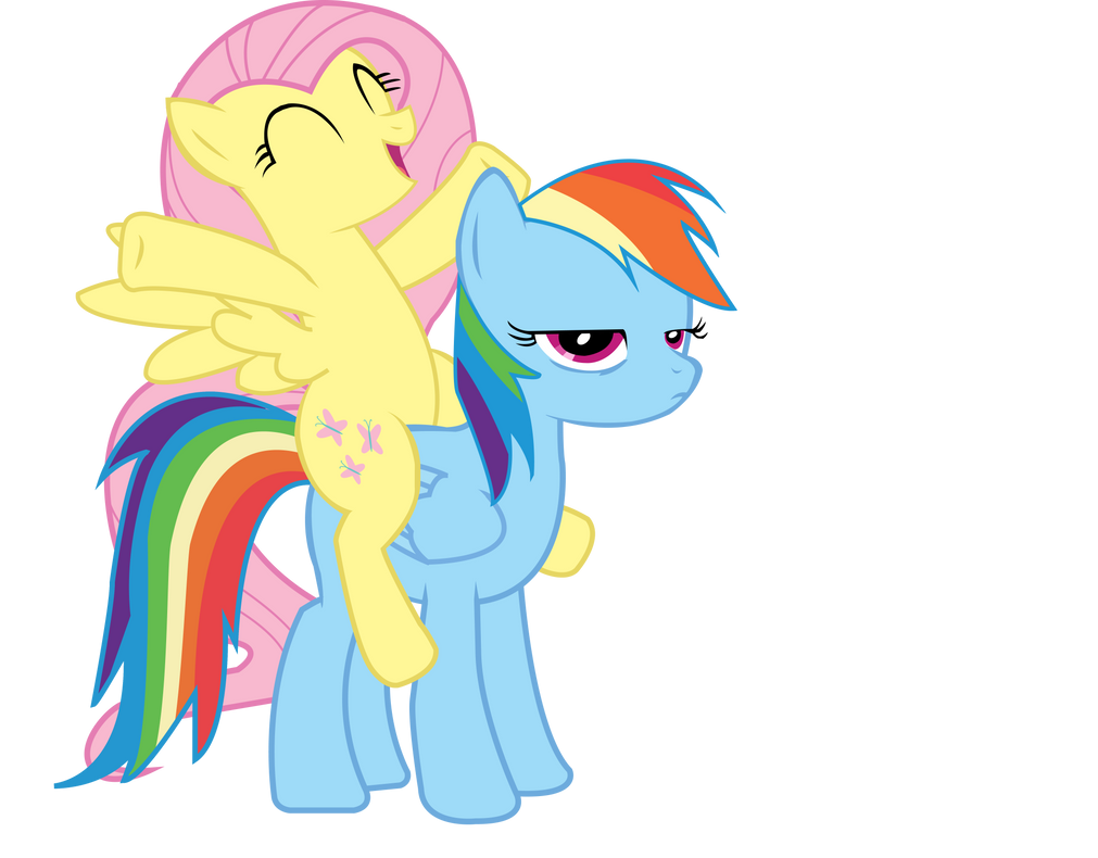 Ponies Riding Ponies Vector by TiredBrony
