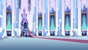 Crystal Throne Room Background by TiredBrony