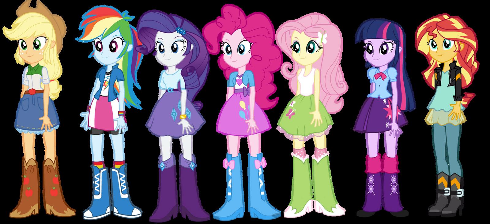 Equestria Girls Mane 7 Human Puppets by TiredBrony on ...