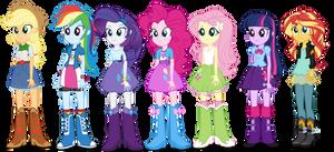 Equestria Girls Mane 7 Human Puppets