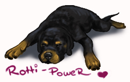 Rottweiler are pure love :3 by cottondragon