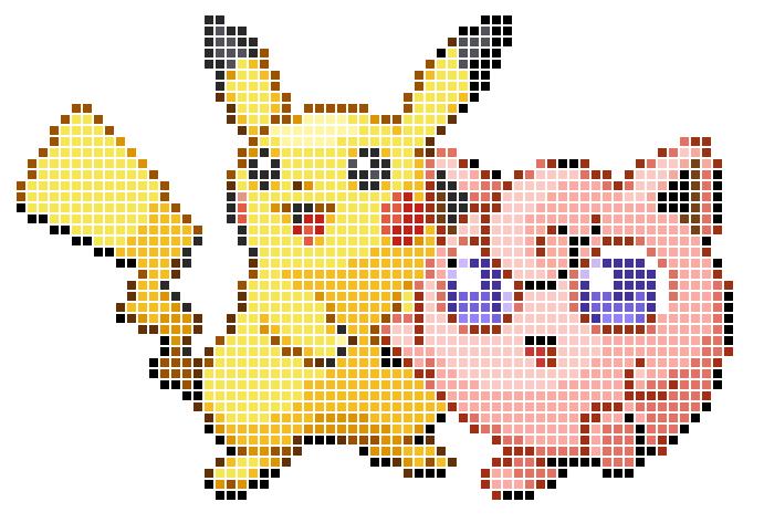 The Gallery For Gt Pokemon Pixel Art Grid Pikachu