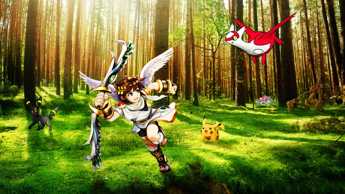 Pit playing with pokemon in the forest wallpaper by zeypher c on pit playing with pokemon in the forest wallpaper by zeypher c voltagebd Gallery