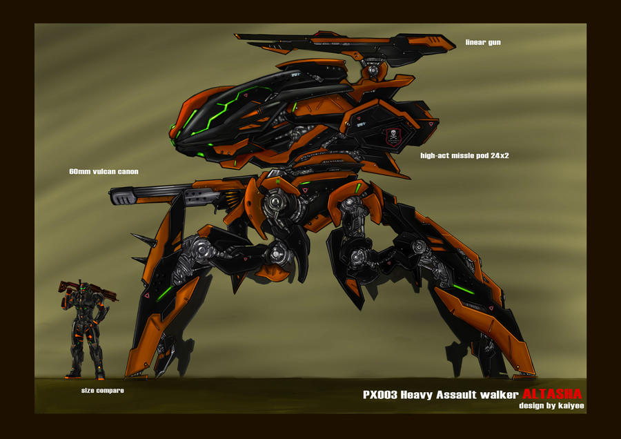 mech walker altasha by Kai-E-soh
