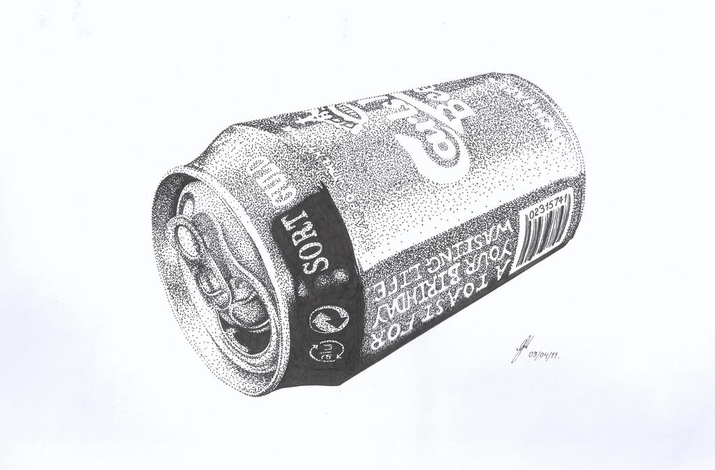 Beer Can Stippling By Icarus Redemption On Deviantart