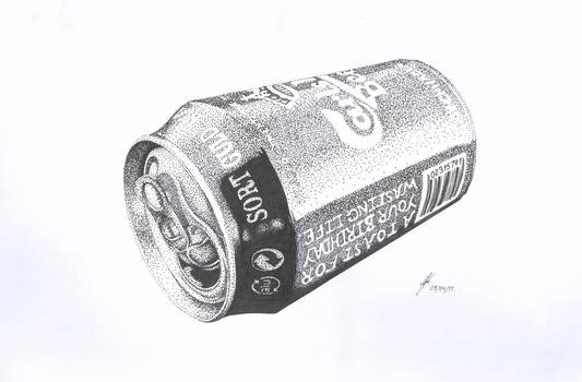 Beer Can (Stippling)