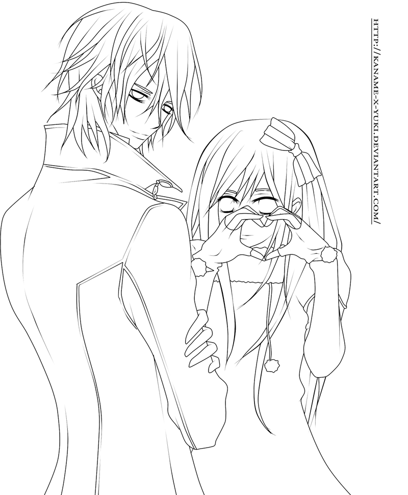 When Scanning Line Art You Should : Click the yuki zero from vampire knight coloring