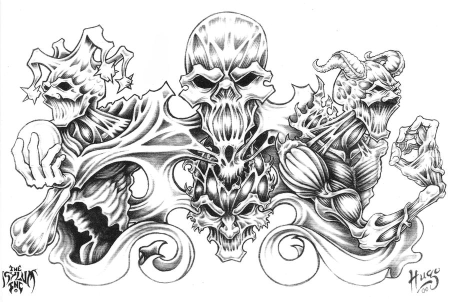 Evil Demons Coloring Pages For Adults Coloring Pages