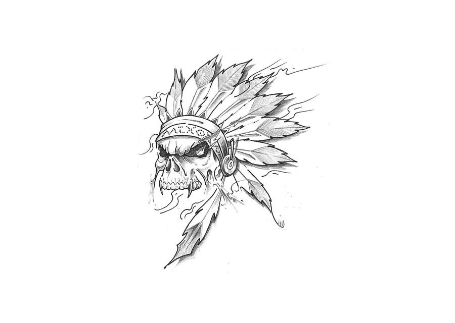 indian skull by xxdarkreignxx on deviantart. Black Bedroom Furniture Sets. Home Design Ideas