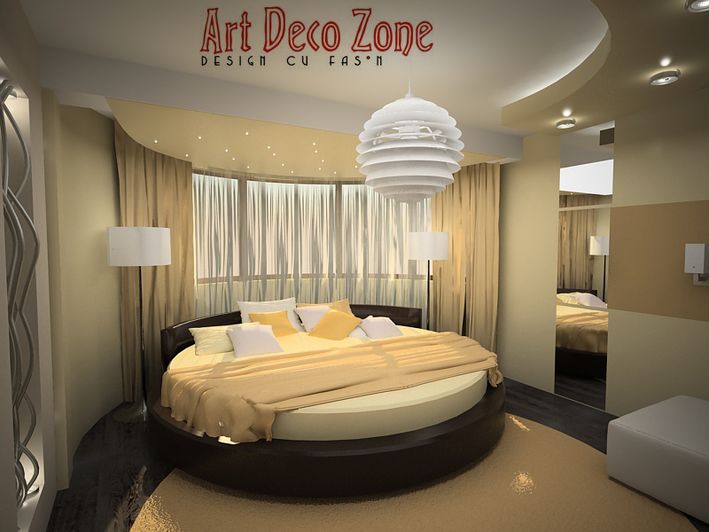 Bedroom With Round Bed 1 By Artdecozone On Deviantart