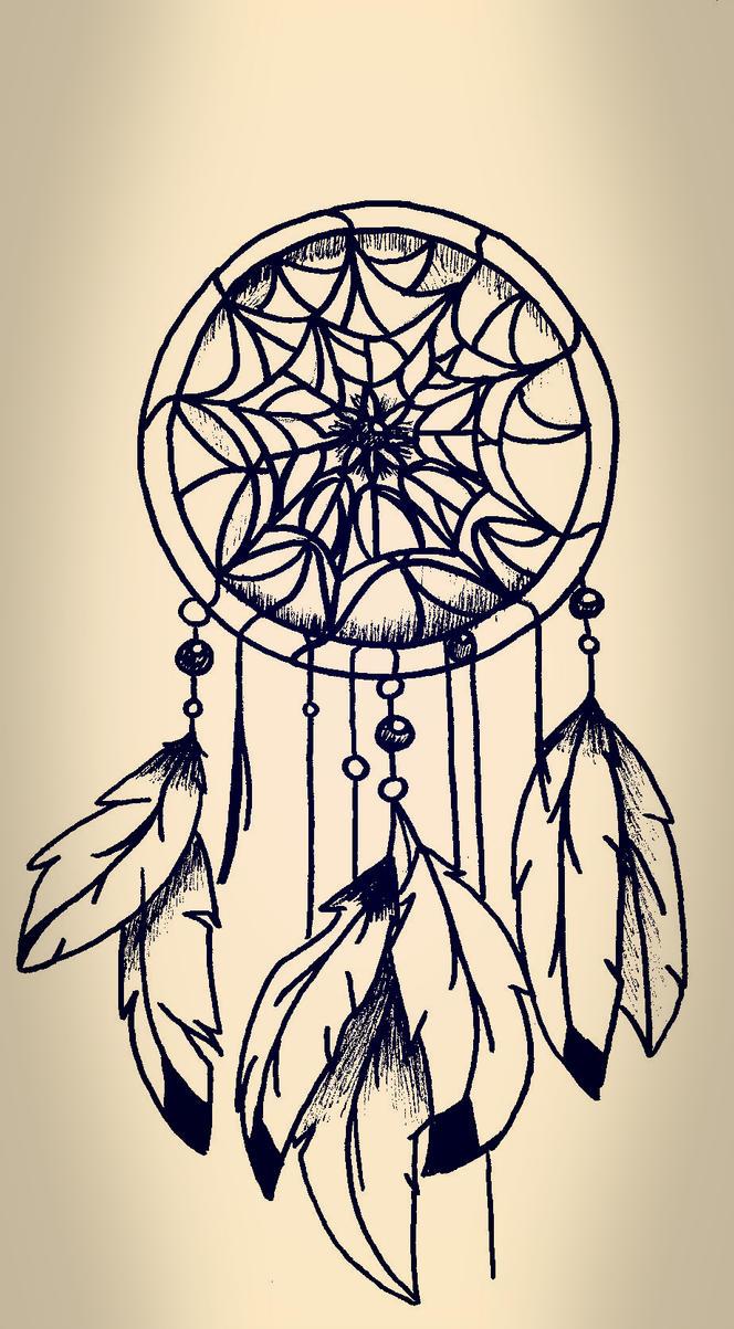 Traditional Dream Catcher Tattoo My dreamcatcher tattoo by Pirew on DeviantArt 38