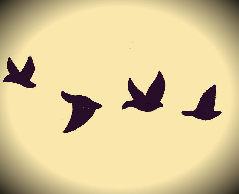Small Bird Tattoo Outline