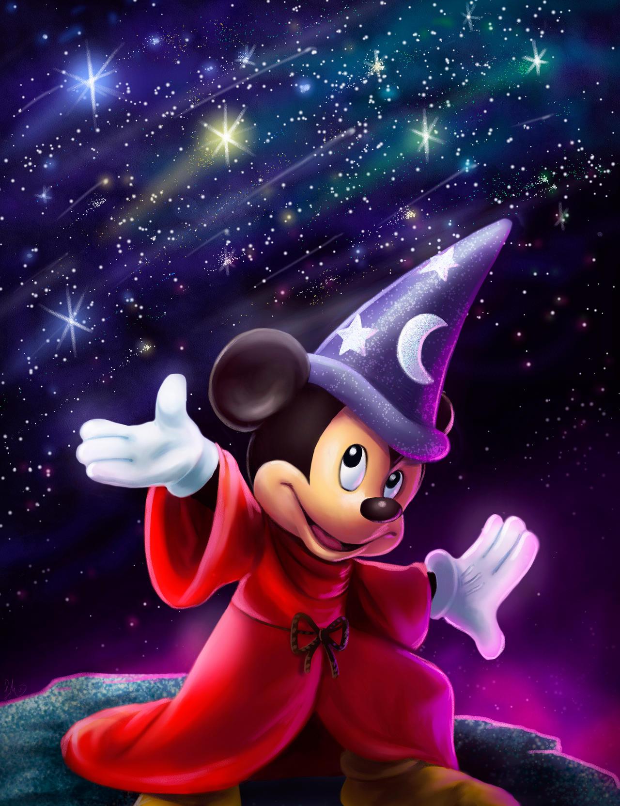 Magic Mickey by Cosmic-Chameleon on DeviantArt  Magic Mickey by...