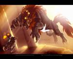 Link vs. Ganon by AdoobibullTwin4
