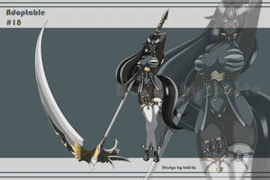 [Auction OPEN] Reaper Elf Adoptable+Weapon #18 by tohi-ta