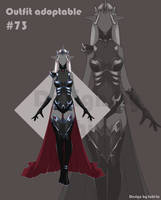 [Auction OPEN] Dark-Elf Outfit adoptable #73 by tohi-ta