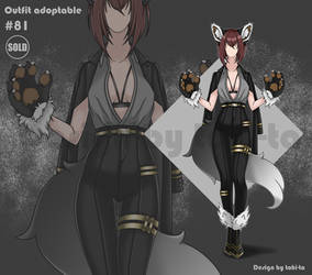 Lady Wolf outfit adoptable #81 [Closed]
