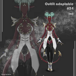 Sexy demon Outfit adoptable #74 [Closed]