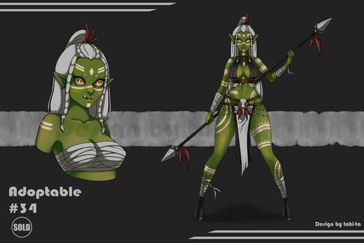 Sexy Ogre-girl Adoptable+Weapon #34 [Closed]