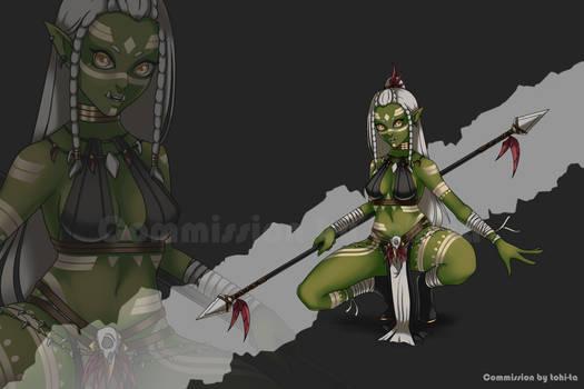 [Commission] Ogre-girl Tiho for X-Halfling