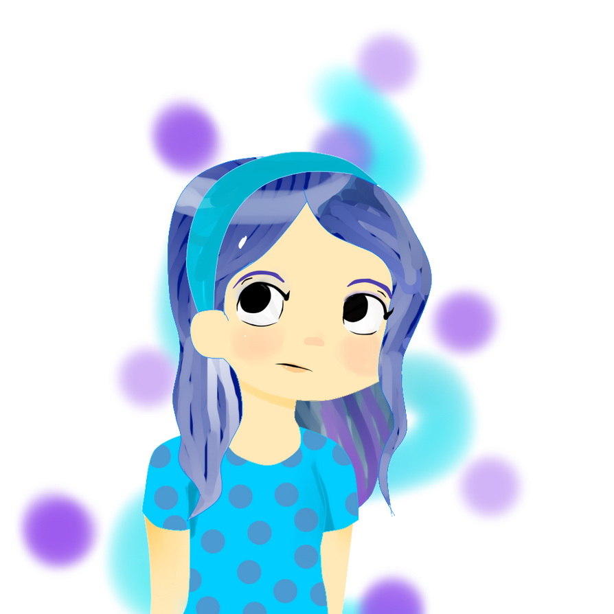blue hair by Kittenzarecute123