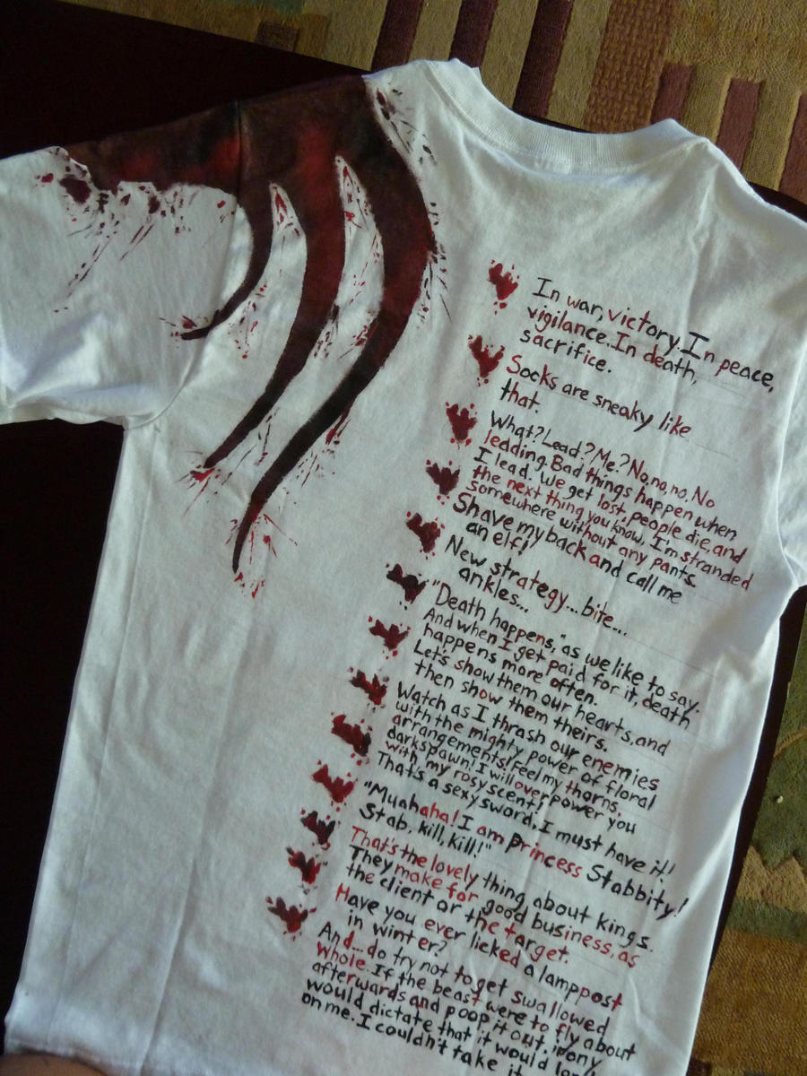 Dragon Age T-shirt, back view by Shadowfax999