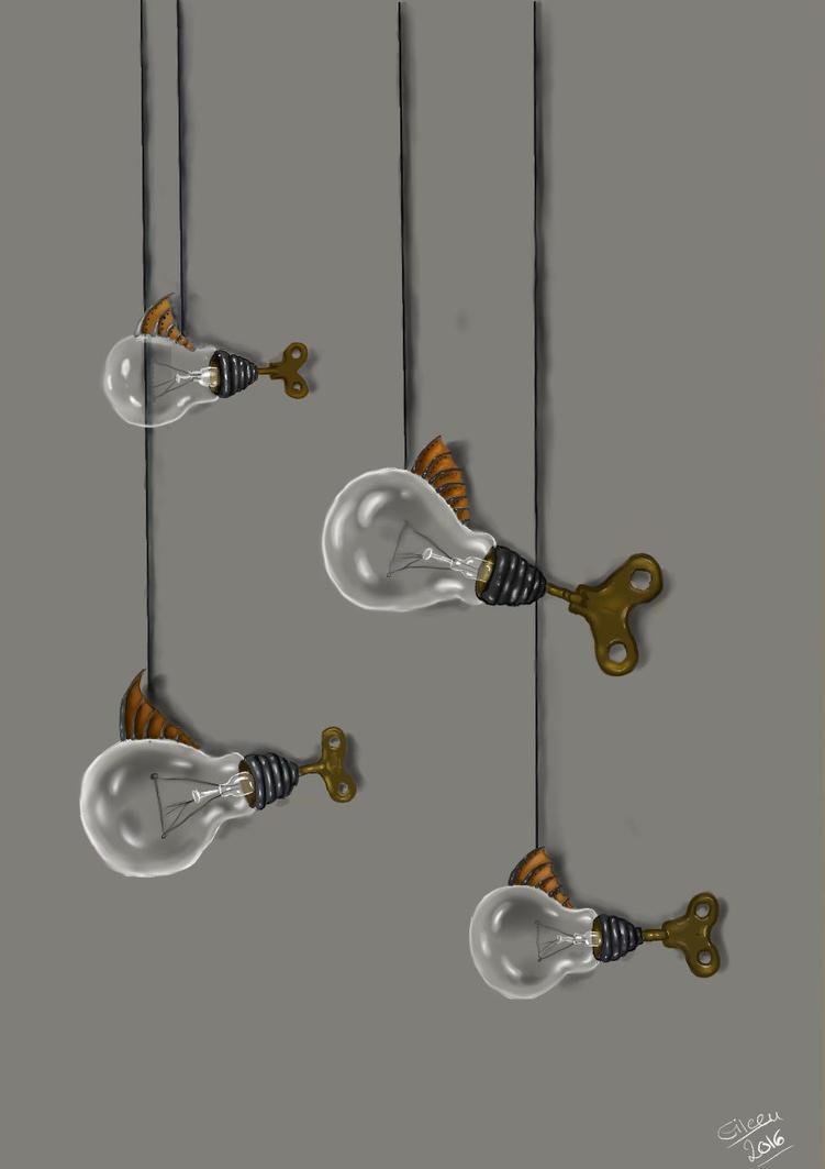 Lightbulp fish by QueeniEileeni