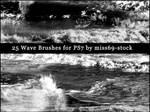 Waves-ocean brushes