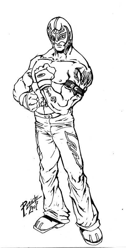 The gallery for sin cara mask coloring pages for Wwe rey mysterio mask coloring pages