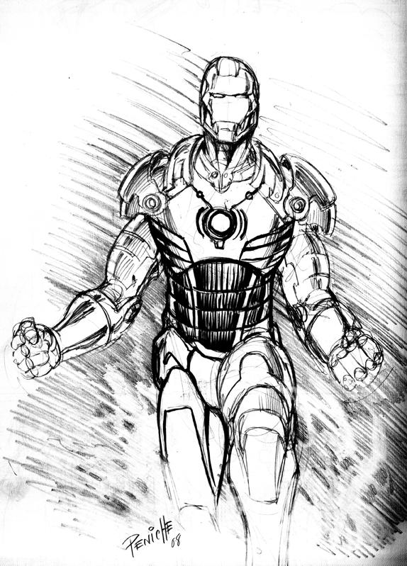 Iron Man Sketch By Fpeniche On DeviantArt