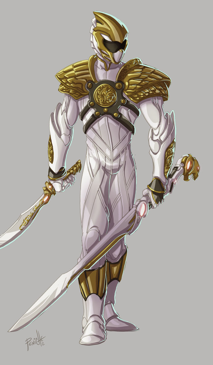White Ranger color by Fpeniche