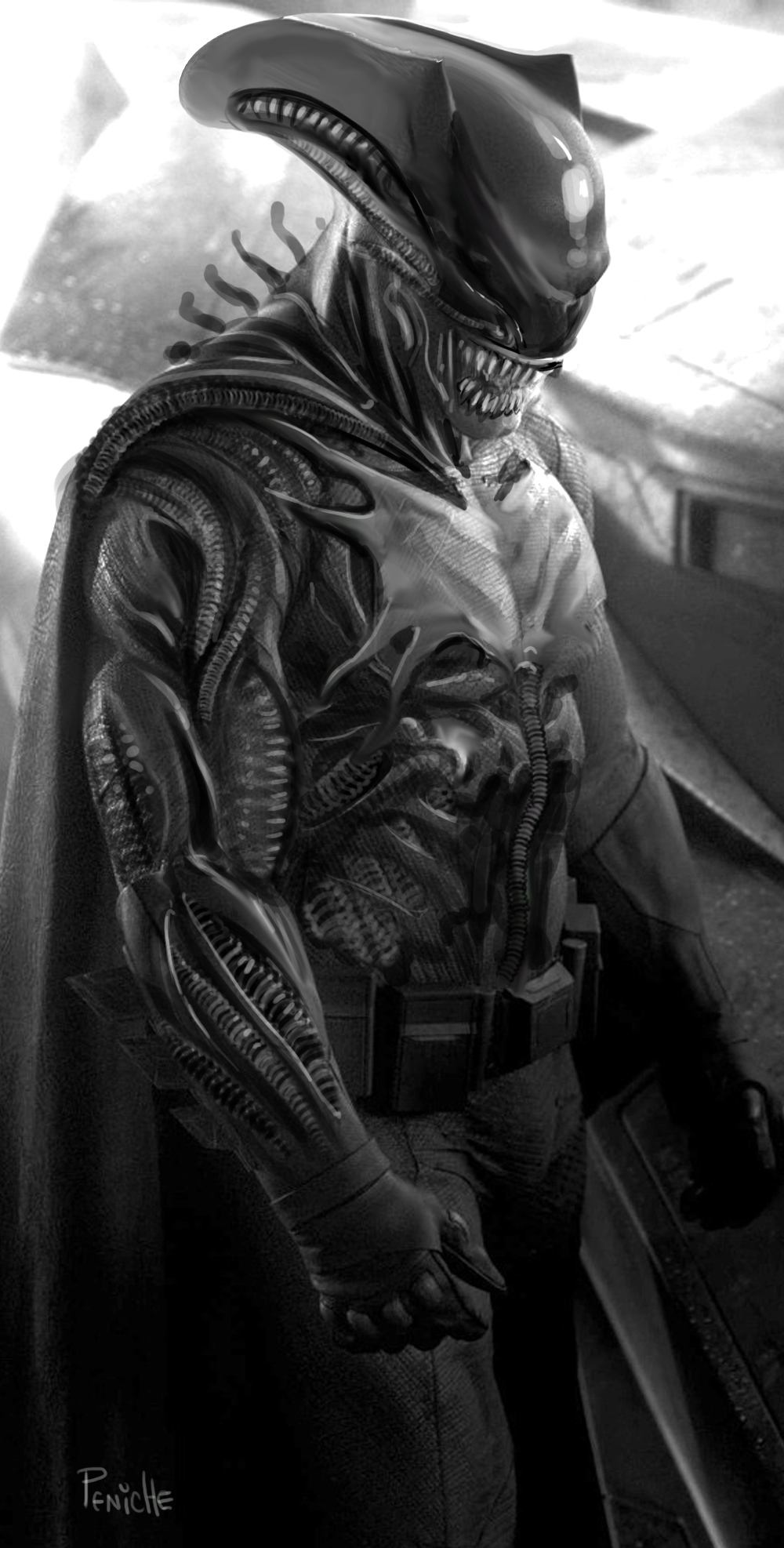 Alien Batman by Fpeniche