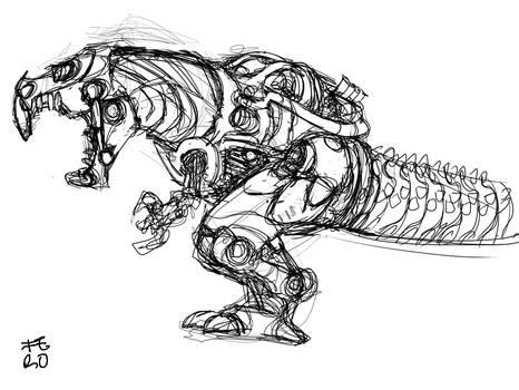 T-Rex Zord sketch