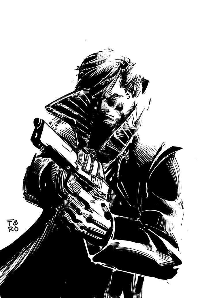Punisher Quick sketch by Fpeniche