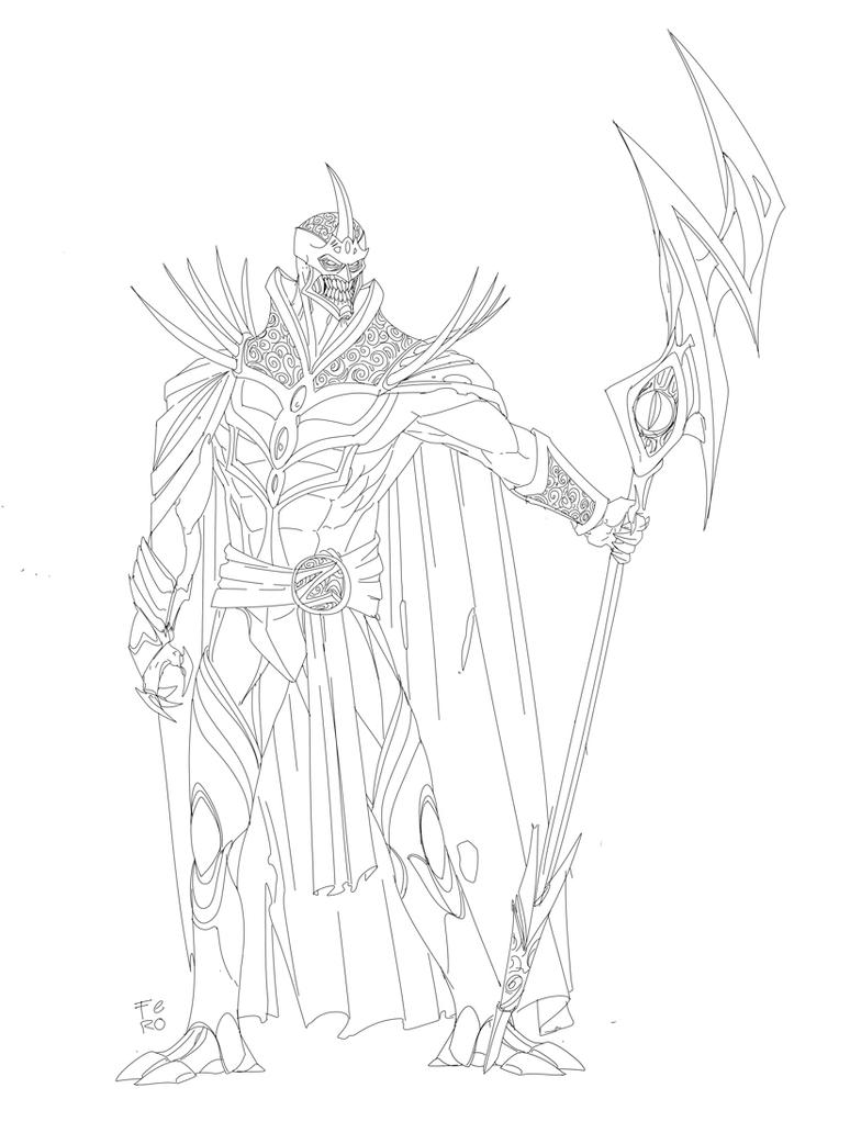 Lord Zedd Inks by Fpeniche
