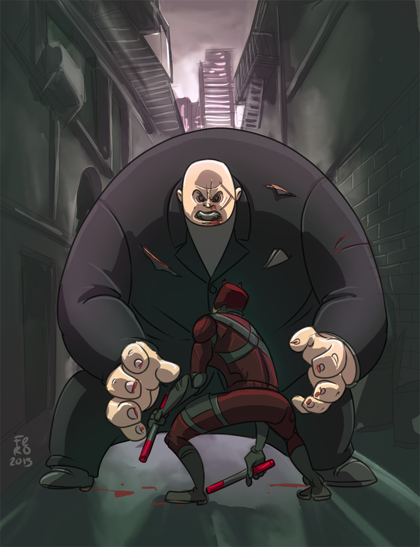 Daredevil Vs Kingpin Daredevil vs Kingpin b...