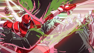 Red Ranger vs putty patrol