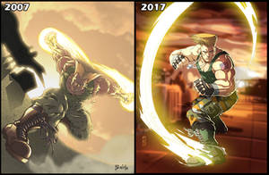 Guile Streetfighter 10 years by Fpeniche