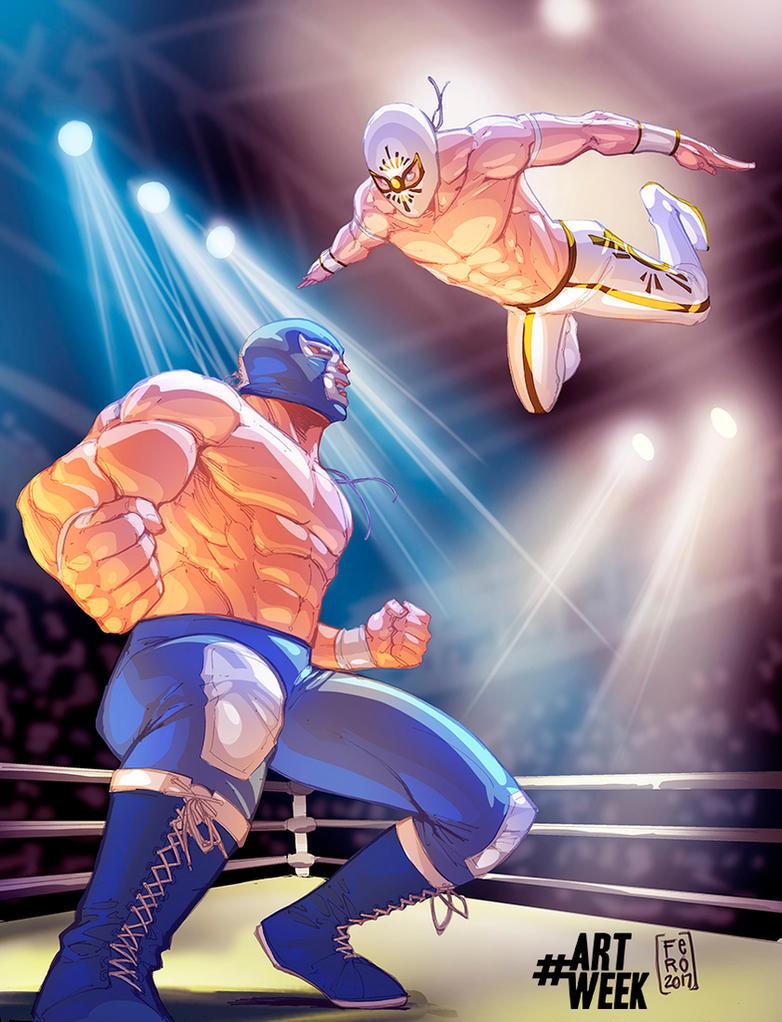 Lucha Libre BlueDemon vs Mistico by Fpeniche
