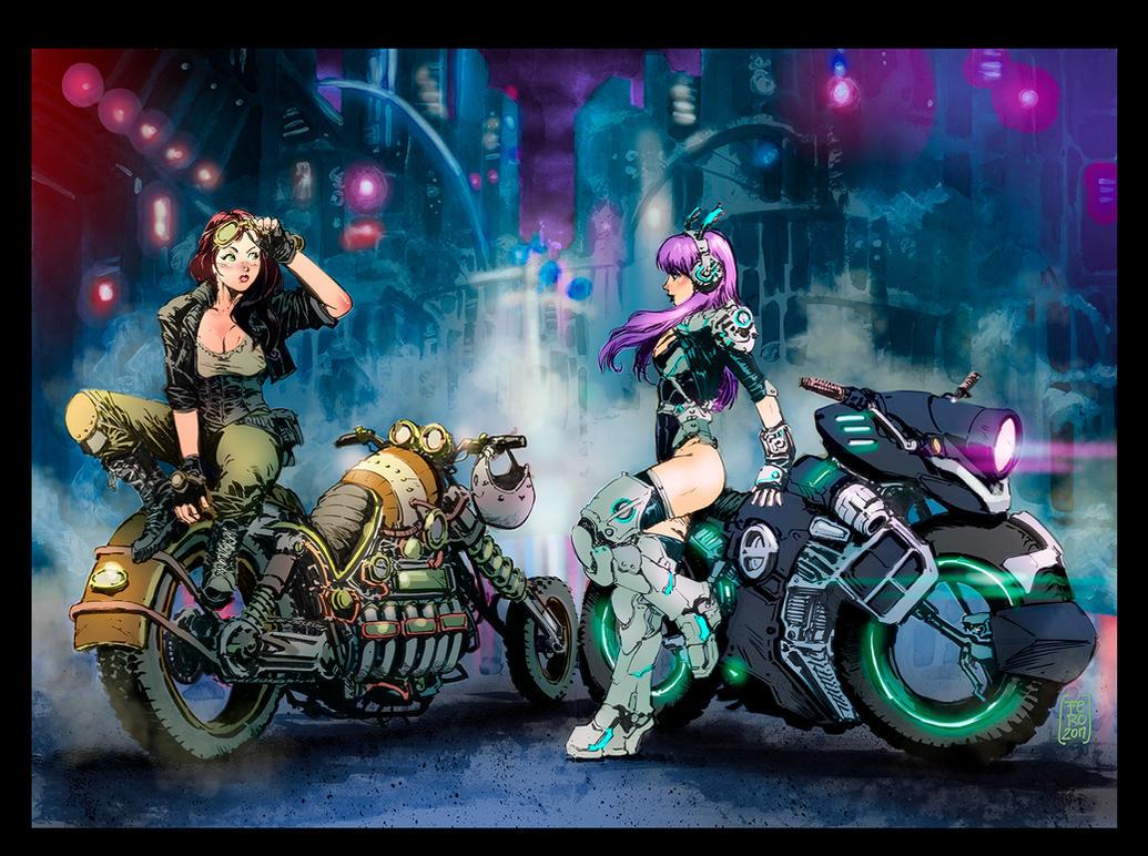 Steampunk  Cyberpunk by Fpeniche