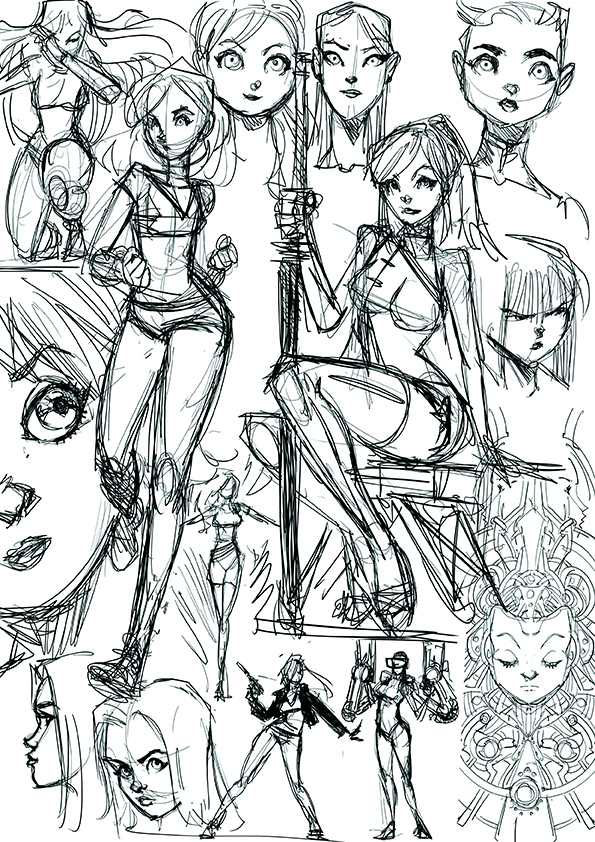 Sketch girls by Fpeniche