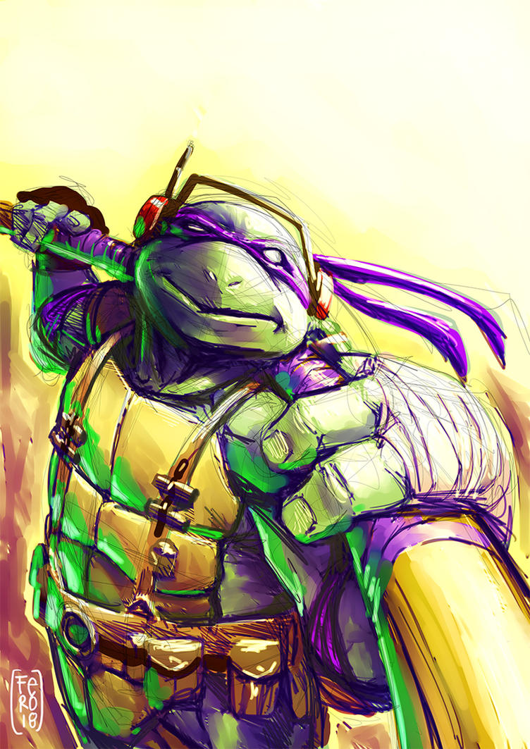 Donatello paint sketch by Fpeniche