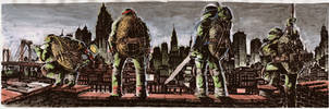 Ninja Turtles in the City by Fpeniche
