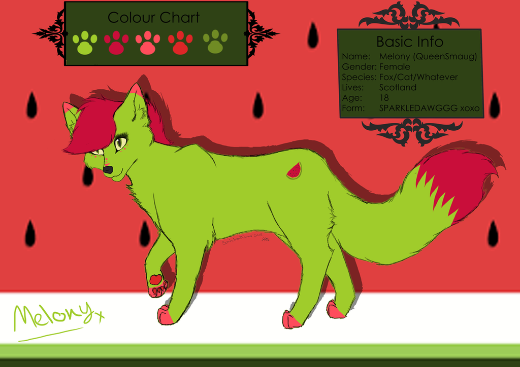 Melony Reference Sheet 2015 by SunKissedDancer